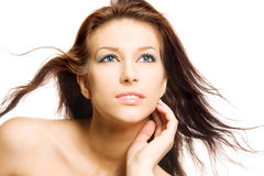 Mulher triguenha bonita imagens de stock royalty free