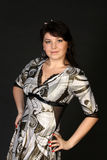 Mulher triguenha bonita no vestido Fotografia de Stock