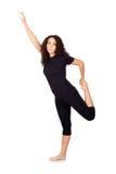 Mulher triguenha que faz exercícios da ioga Imagens de Stock Royalty Free