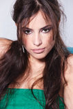 Mulher triguenha sensual imagens de stock royalty free