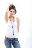 Mulher triguenha 'sexy' Imagens de Stock