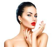 Mulher triguenha 'sexy' bonita fotos de stock