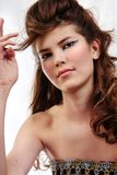 Mulher triguenha 'sexy' bonita nova Fotografia de Stock