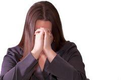 Mulher triguenha triste Fotografia de Stock Royalty Free