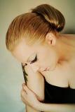 Mulher triste Fotografia de Stock Royalty Free