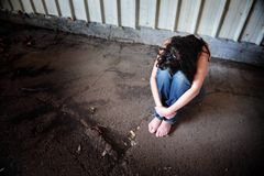 Mulher triste Fotos de Stock