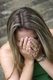 Mulher triste fotografia de stock