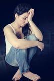 Mulher triste Imagens de Stock