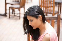 Mulher triste Imagem de Stock Royalty Free