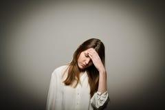 Mulher triste Imagens de Stock Royalty Free