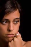 Mulher triste nova Fotos de Stock