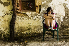 Mulher triste nova fotografia de stock