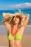 Mulher tropica da beleza Fotografia de Stock Royalty Free