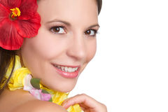 Mulher tropical imagens de stock royalty free