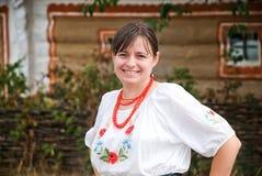 Mulher ucraniana fotografia de stock
