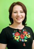 Mulher ucraniana feliz Imagem de Stock Royalty Free