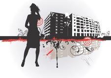 Mulher urbana ilustração stock