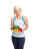 Mulher vegetal saudável imagens de stock royalty free