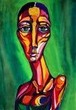 Mulher verde Imagens de Stock