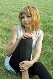 Mulher vermelha do cabelo Imagens de Stock Royalty Free
