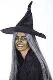 Mulher vestida como a bruxa Fotografia de Stock Royalty Free