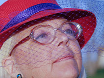 Mulher vestida para a igreja Imagens de Stock Royalty Free