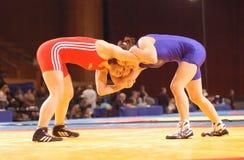Mulher Wrestling Fotografia de Stock Royalty Free