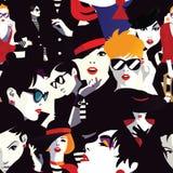 Mulheres à moda no pop art do estilo ilustração royalty free