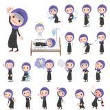 Mulheres árabes sobre a doença ilustração stock