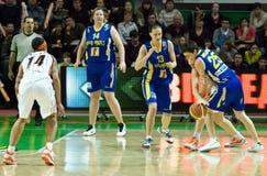 Mulheres 2009-2010 de EuroLeague. Imagem de Stock