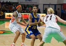 Mulheres 2009-2010 de EuroLeague. Imagens de Stock