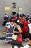 Mulheres aciganadas, Saintes Maries de la Mer, Camargue Foto de Stock