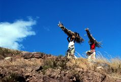 Mulheres africanas que levam a madeira Imagem de Stock Royalty Free