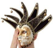 Mulheres atrás da máscara do carnaval Fotografia de Stock Royalty Free