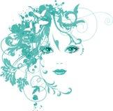 Mulheres bonitas com flores ilustração do vetor