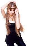Mulheres bonitas em um terno com os vidros Imagens de Stock Royalty Free