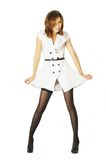 Mulheres bonitas no vestido branco Imagem de Stock