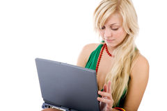 Mulheres bonitas novas no branco Imagens de Stock Royalty Free