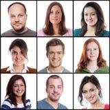 Mulheres caucasianos e homens que variam de 18 a 45 anos Fotografia de Stock