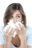 Mulheres com alergias imagens de stock