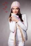 Mulheres com coração Imagens de Stock Royalty Free