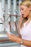 Mulheres com faturamento Fotografia de Stock