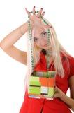 Mulheres com presente Fotos de Stock Royalty Free