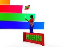 mulheres 3d e ilustração do progresso Fotografia de Stock