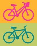 Mulheres da bicicleta, homens, vetor do ícone Fotografia de Stock
