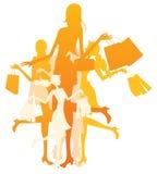 Mulheres da compra ilustração royalty free