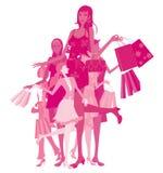 Mulheres da compra ilustração do vetor