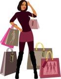 Mulheres da compra Fotos de Stock Royalty Free