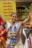 Mulheres da dança de Krishna da lebre Imagem de Stock Royalty Free
