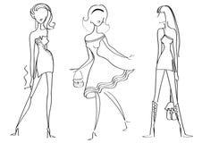 Mulheres da forma ilustração royalty free